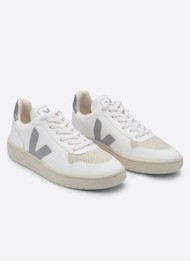 VEJA V-10 CWL Trainers - White & Oxford Grey