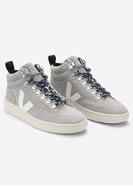 VEJA Roraima Suede Trainers - Oxford Grey & White