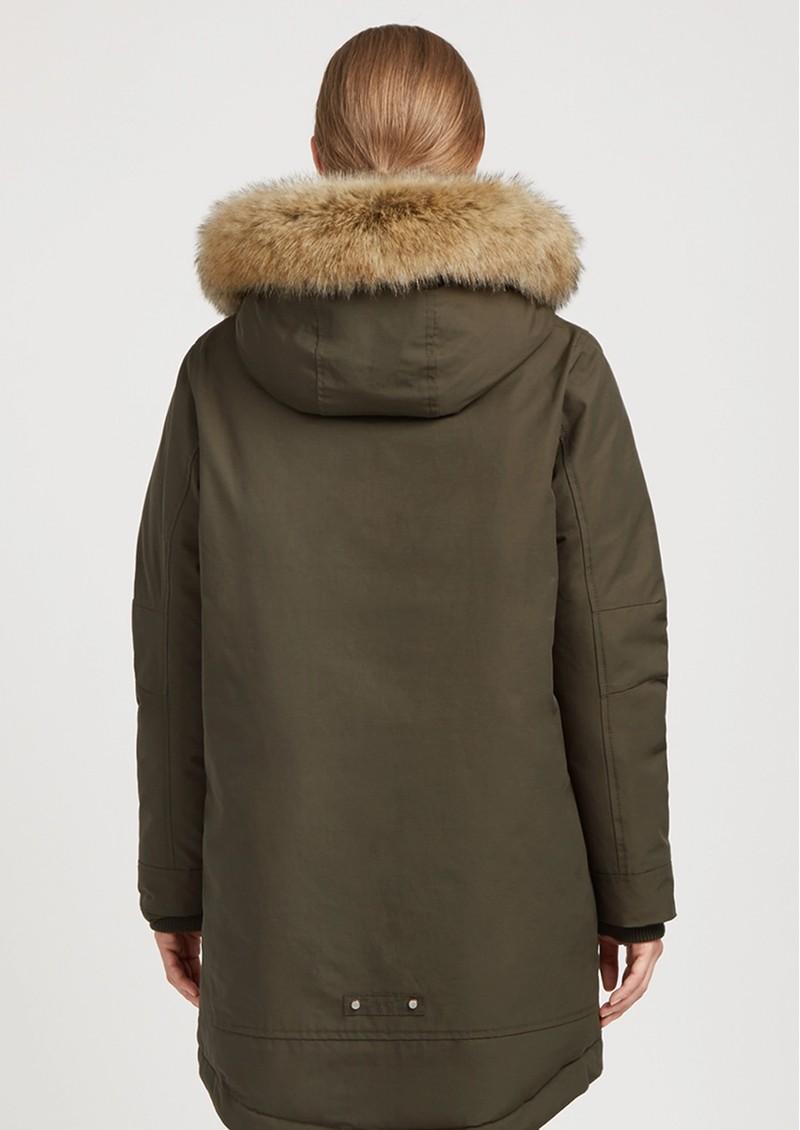 PARKA LONDON Stormont Faux Fur Hood Parka - Khaki main image