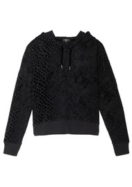 Rails Nico Hoodie - Black Flocked Cobra