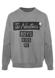NEWTONE Kiss Me Cotton Sweatshirt - Grey