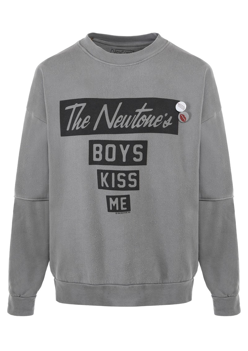 Kiss Me Cotton Sweatshirt - Grey main image