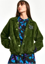 ESSENTIEL ANTWERP Wes Knitted Bomber Jacket - Palace Green