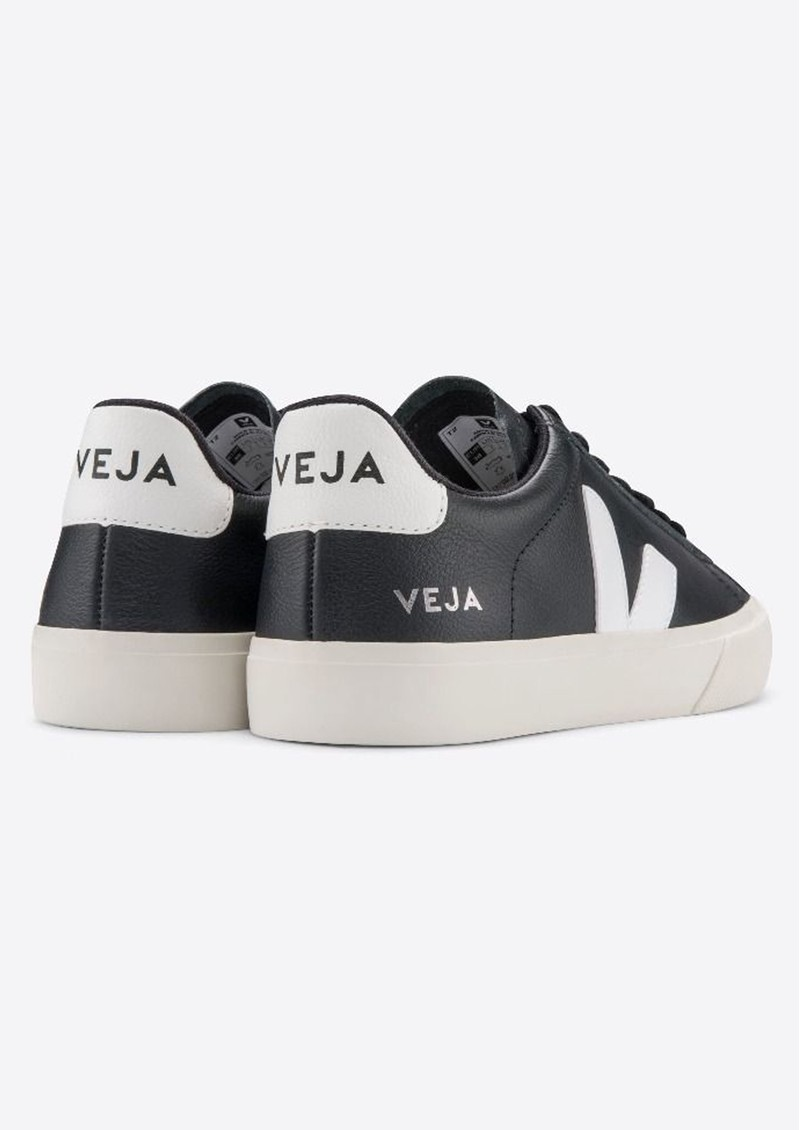 VEJA Campo Leather Trainers - Black & White main image