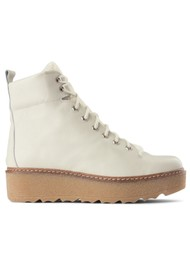 SHOE THE BEAR Bex Leather Boot - White