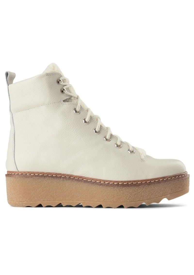SHOE THE BEAR Bex Leather Boot - White main image