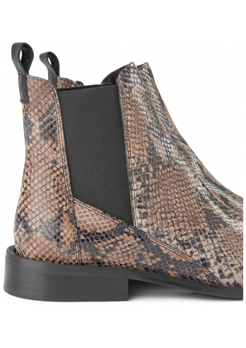 SHOE THE BEAR Finna Leather Snake Chelsea Boot - Taupe main image