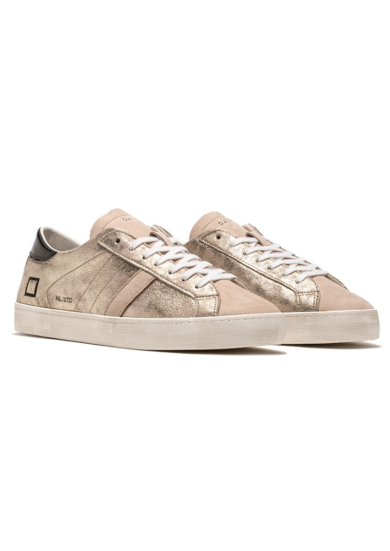 D.A.T.E Hill Low Leather Trainers - Stardust Platinum main image