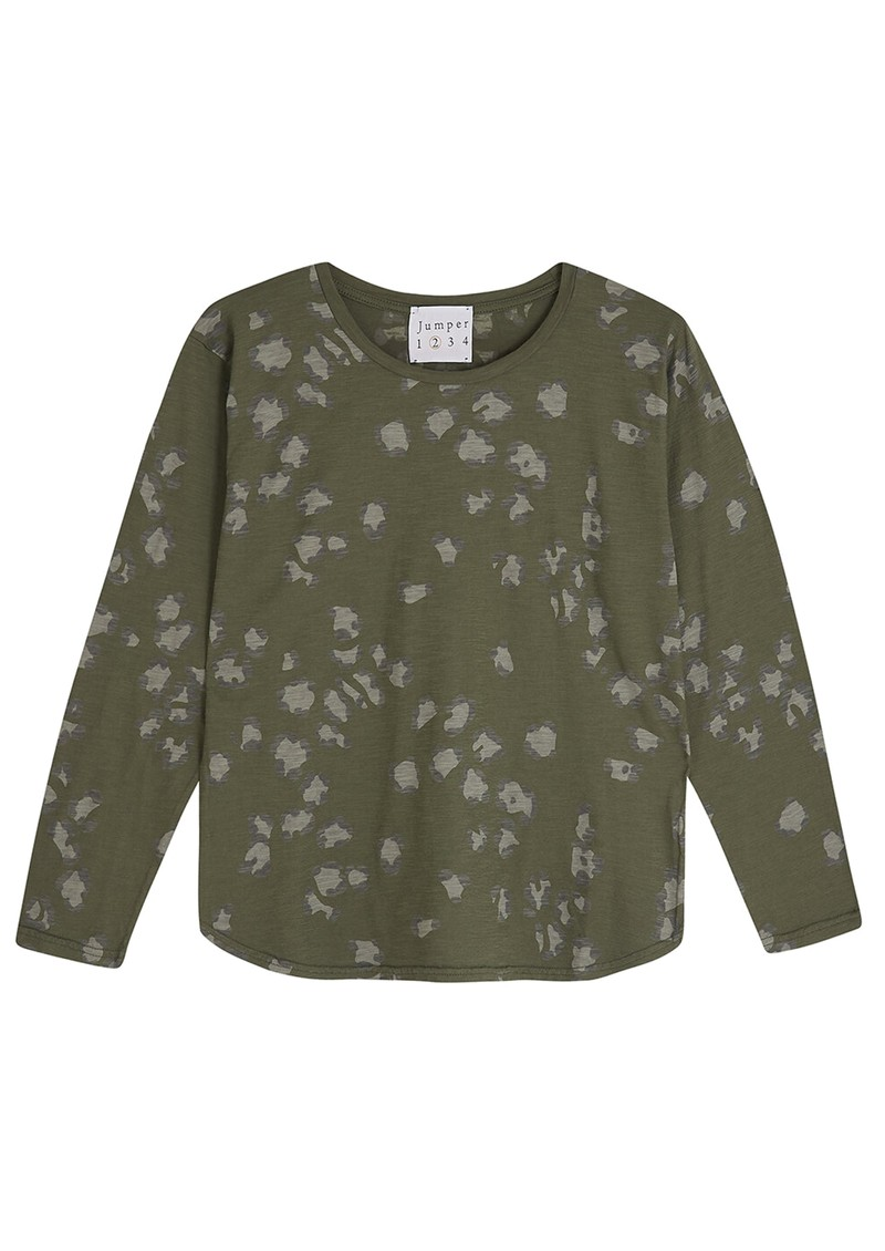 JUMPER 1234 Leopard Print Cotton Tee - Army main image