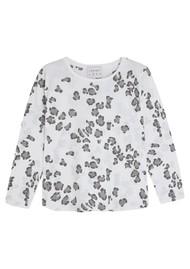 JUMPER 1234 Leopard Print Cotton Tee - White