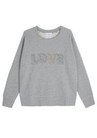 JUMPER 1234 Love Cotton Sweatshirt - Grey Melange