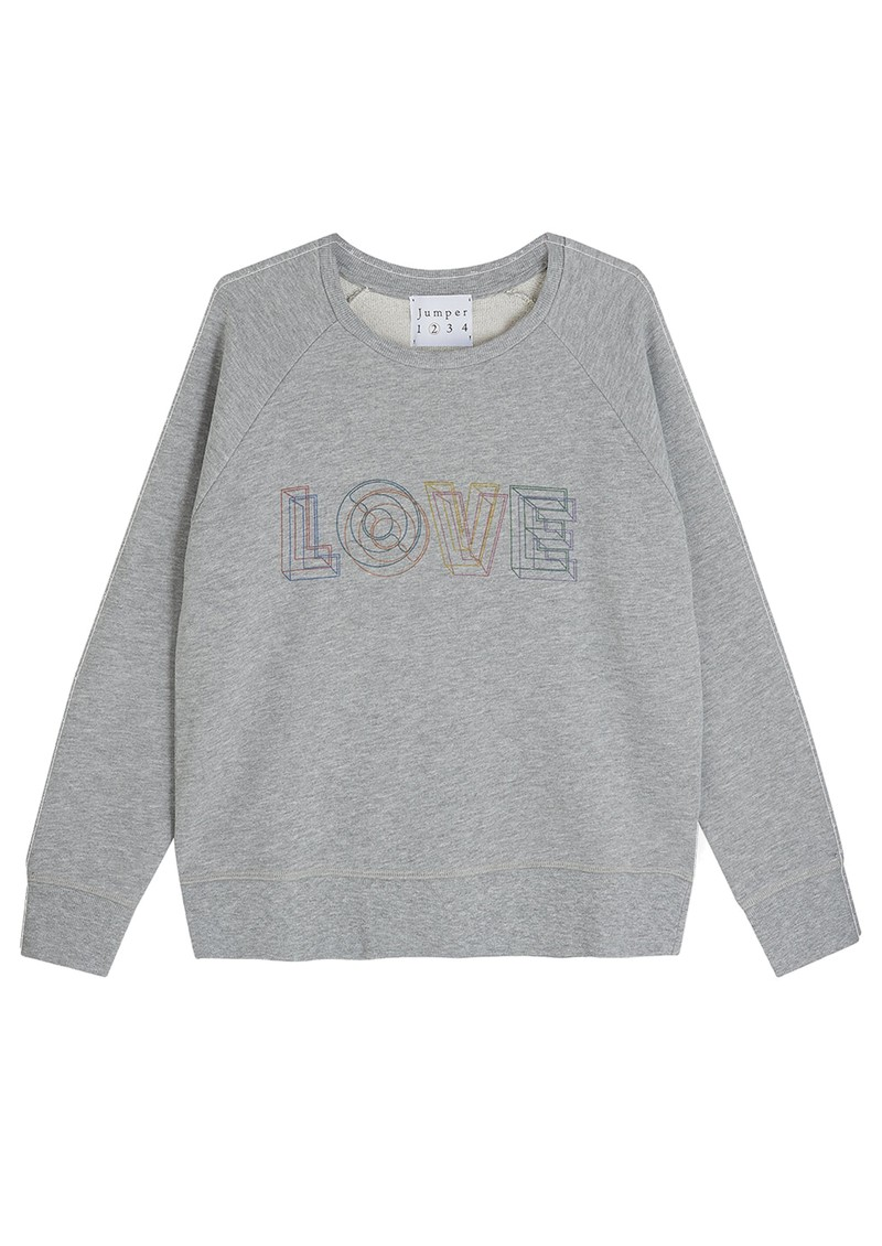 JUMPER 1234 Love Cotton Sweatshirt - Grey Melange main image
