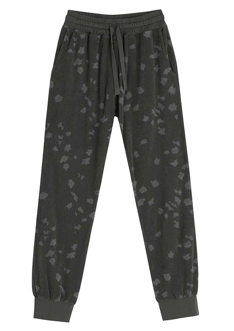 JUMPER 1234 Leopard Terry Cotton Joggers - Charcoal main image