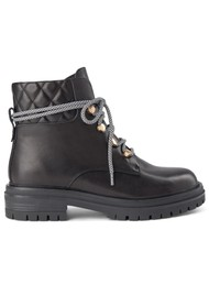 SHOE THE BEAR Franka Lace Leather Boots - Black