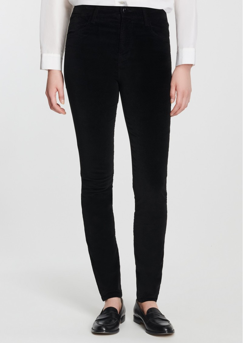 Maria High Rise Velvet Jeans - Black main image