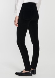 J Brand Maria High Rise Velvet Jeans - Black
