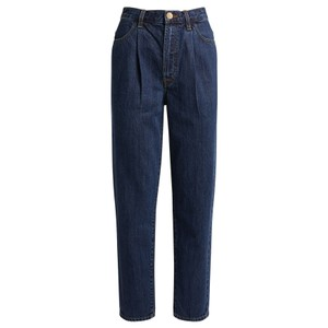 Pleat Front Peg High Waisted Straight Leg Jeans - Perception