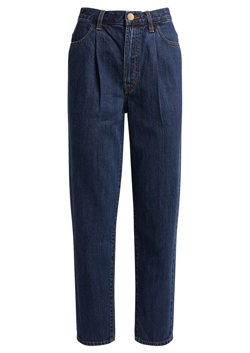 J Brand Pleat Front Peg High Waisted Straight Leg Jeans - Perception main image