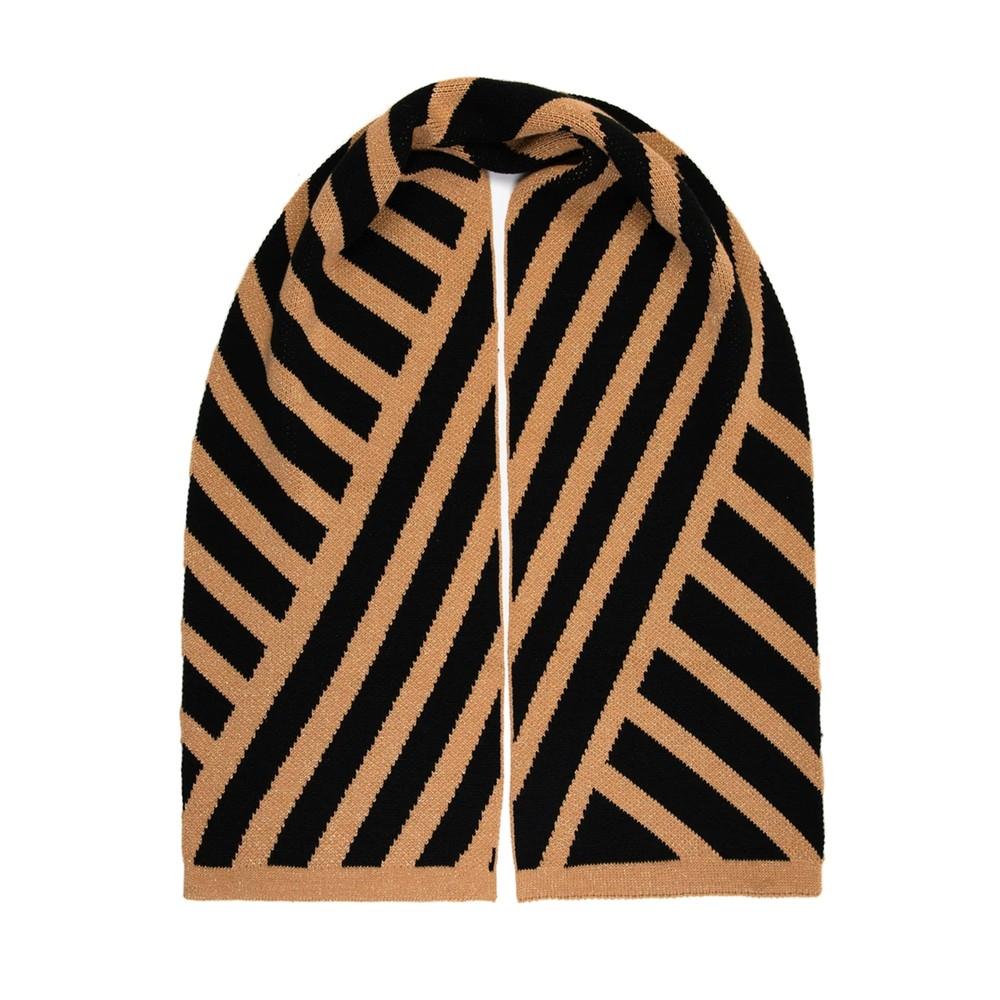 Stripe Scarf - Black & Gold Glitter