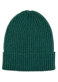 MISS POM POM Wool Ribbed Beanie - Green