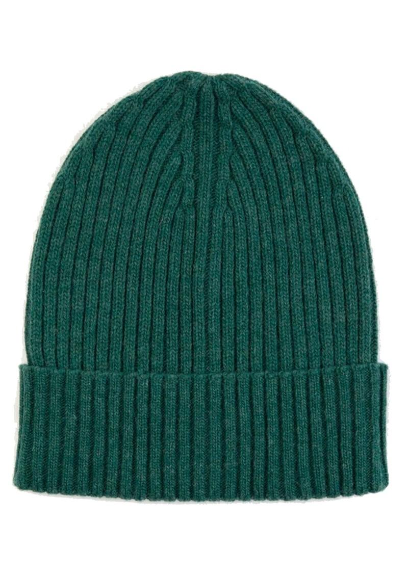 MISS POM POM Wool Ribbed Beanie - Green main image