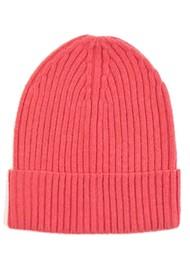 MISS POM POM Wool Ribbed Beanie - Pink