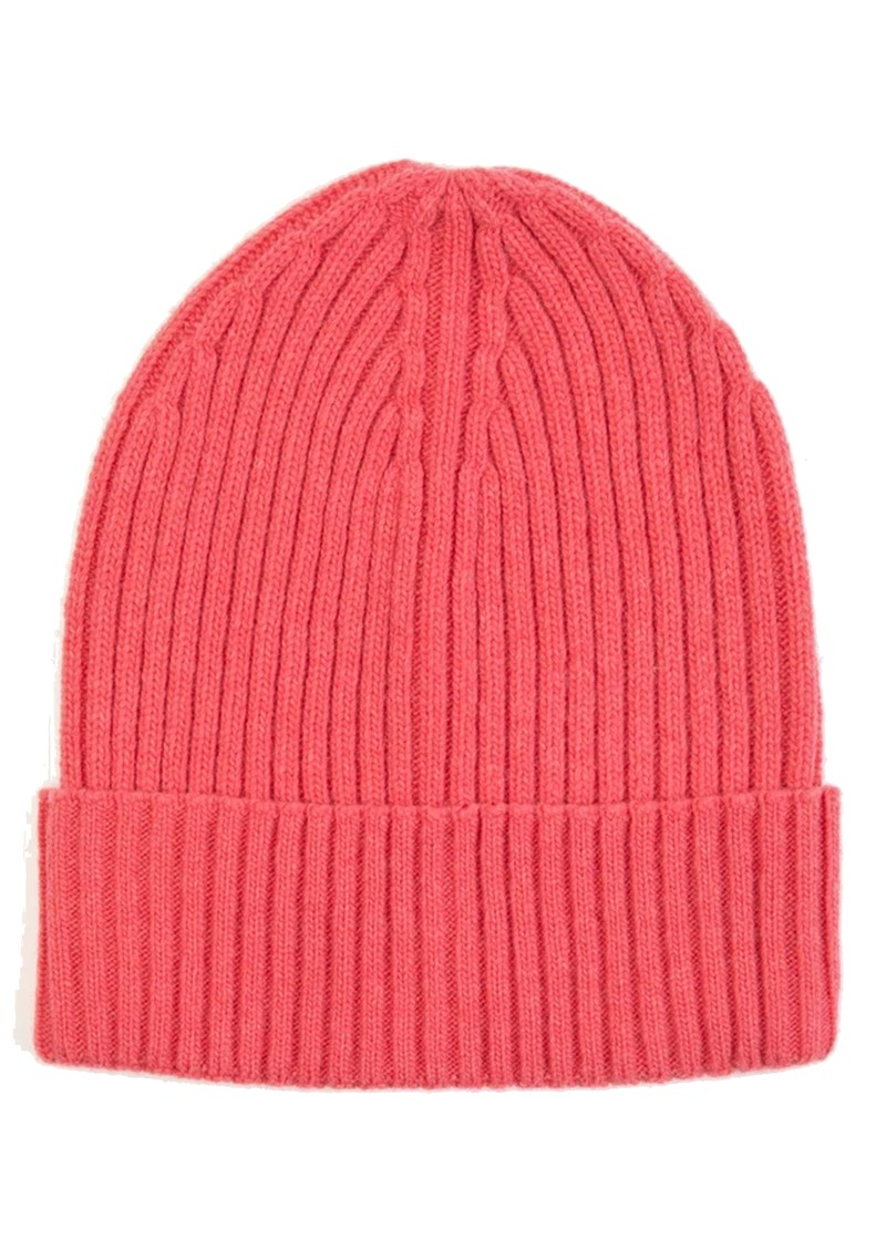 MISS POM POM Wool Ribbed Beanie - Pink main image