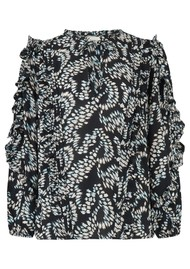 BERENICE Timotee Printed Blouse - Oxygen