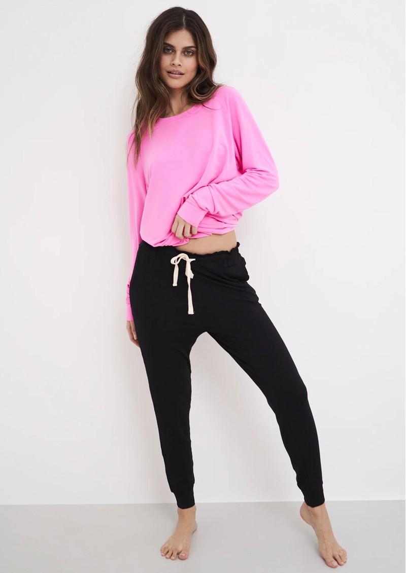 STRIPE & STARE Essential Sweatshirt - Hot Pink main image