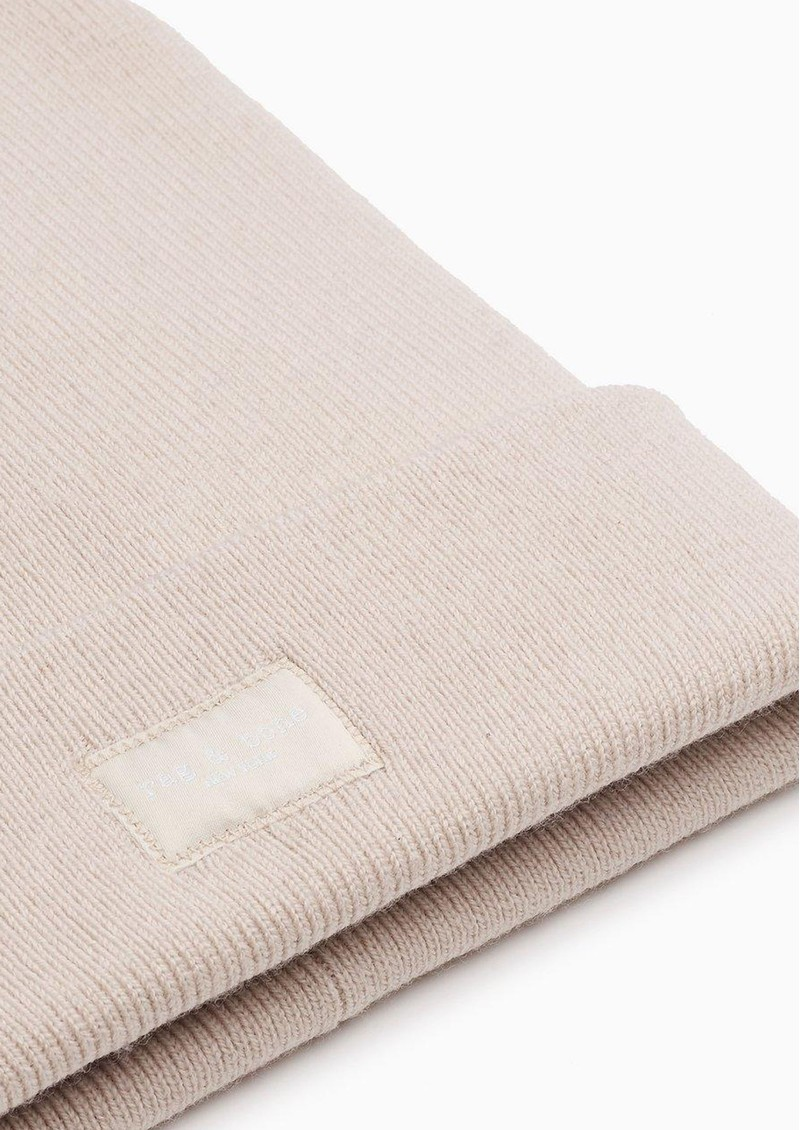 RAG & BONE Ribbed Wool Mix Addison Beanie - Turtledove main image