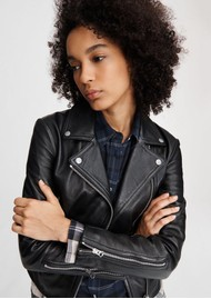 RAG & BONE Mack Leather Jacket - Black
