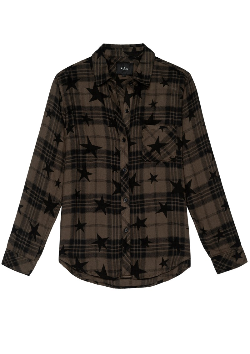 Rails Hunter Plaid Shirt - Olive Jet Stars main image