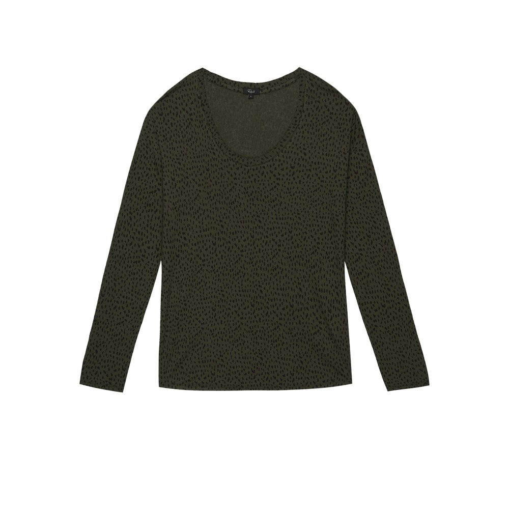 Colby Long Sleeve T-Shirt - Olive Spot