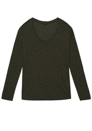 Rails Colby Long Sleeve T-Shirt - Olive Spot