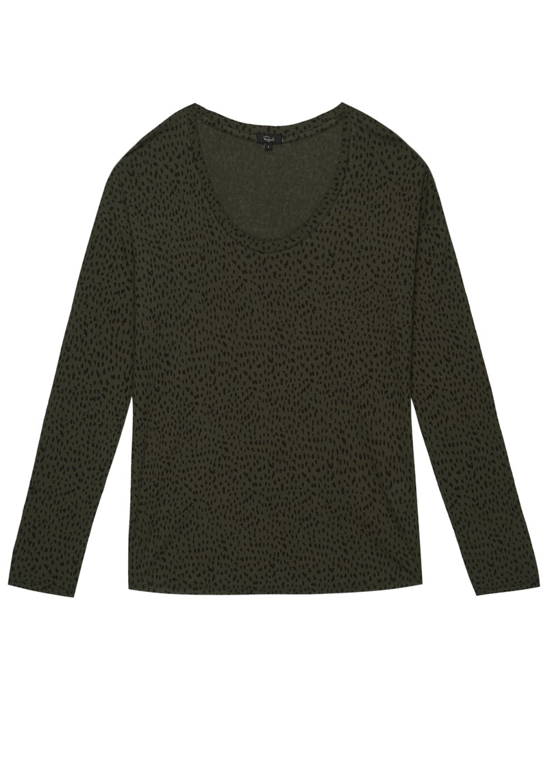 Rails Colby Long Sleeve T-Shirt - Olive Spot main image