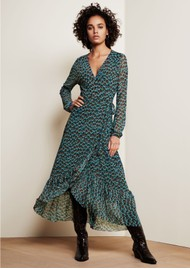 FABIENNE CHAPOT Natasja Frill Dress - Peacock Party