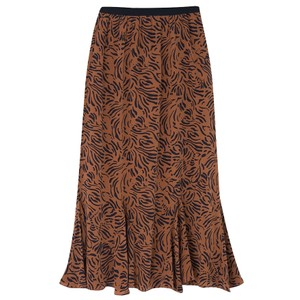 Ford Silk Skirt - Zebra Tobacco