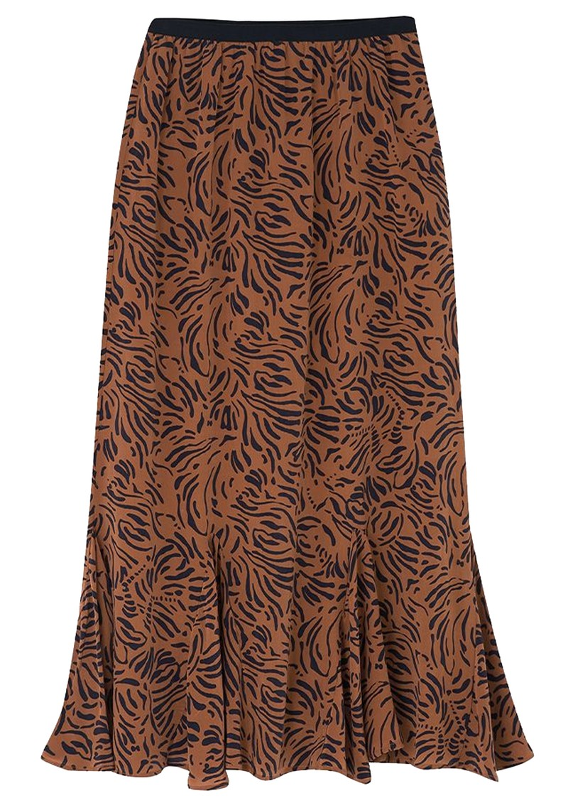 Lily and Lionel Ford Silk Skirt - Zebra Tobacco main image