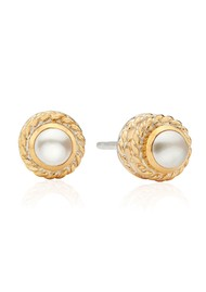 ANNA BECK Reimagined Pearl Stud Earrings - Gold