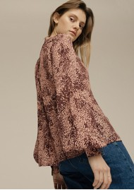 Lily and Lionel Harlowe Blouse - Painted Leopard
