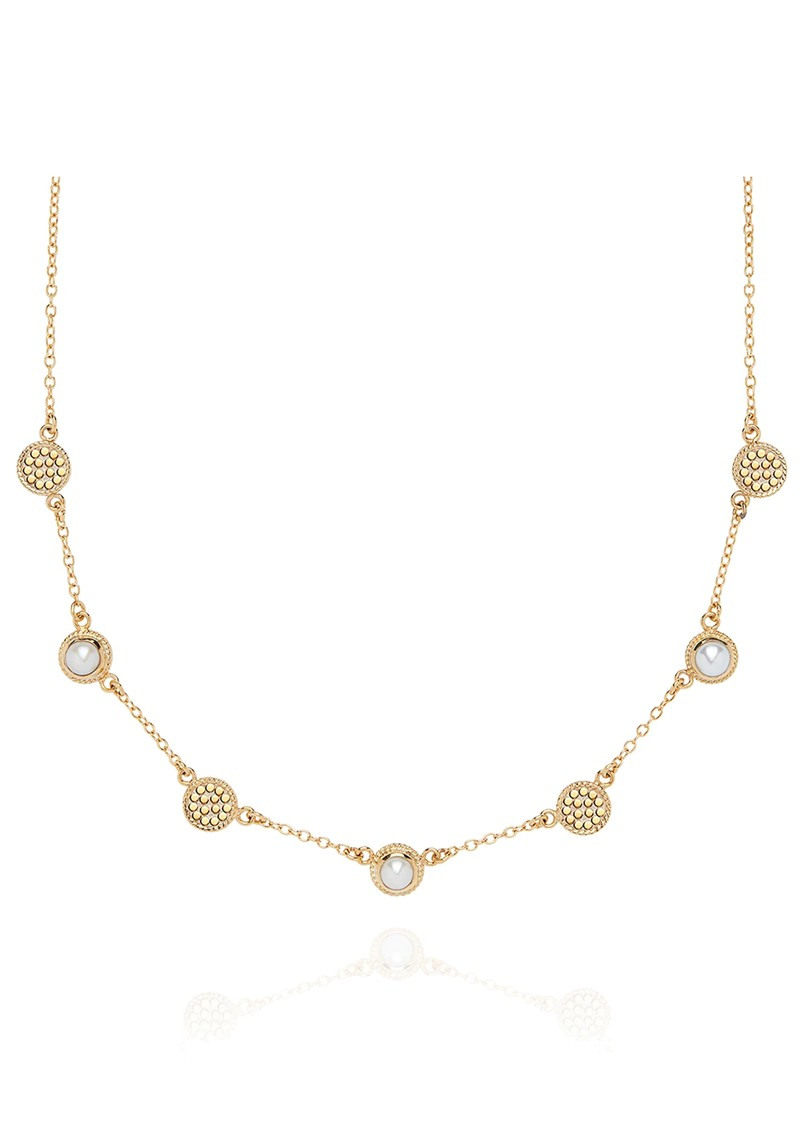 ANNA BECK Reimagined Pearl Station Collar Necklace - Gold main image