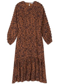 Lily and Lionel Isobelle Silk Dress - Zebra Tobacco