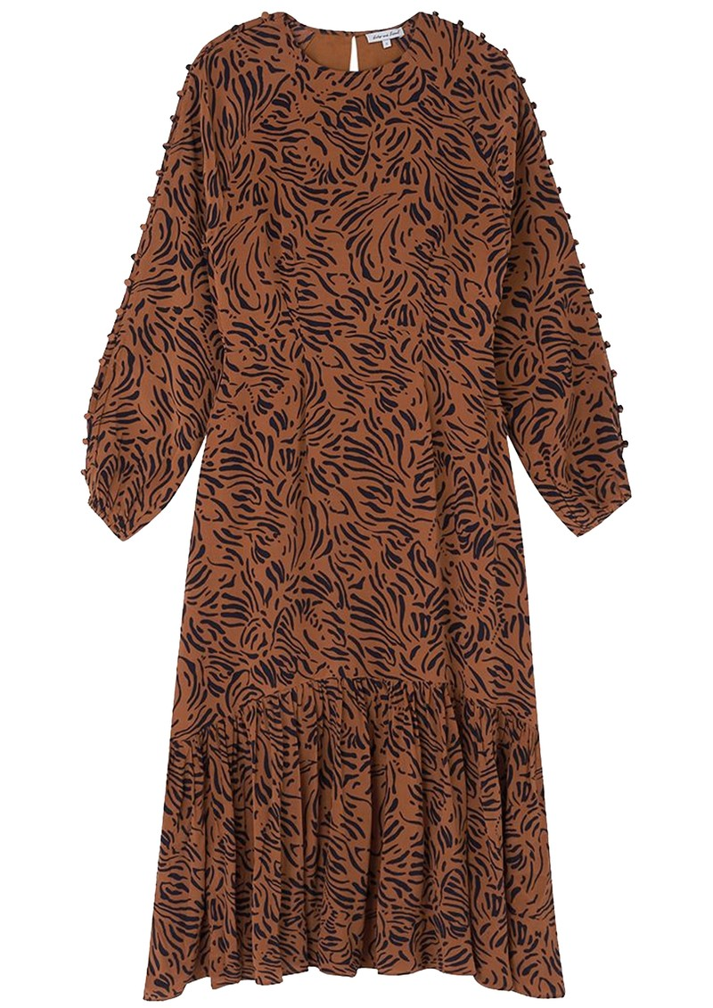 Lily and Lionel Isobelle Silk Dress - Zebra Tobacco main image