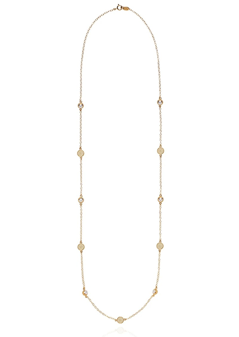 ANNA BECK Reimagined Pearl Long Station Necklace - Gold main image