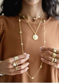 ANNA BECK Reimagined Pearl Long Station Necklace - Gold