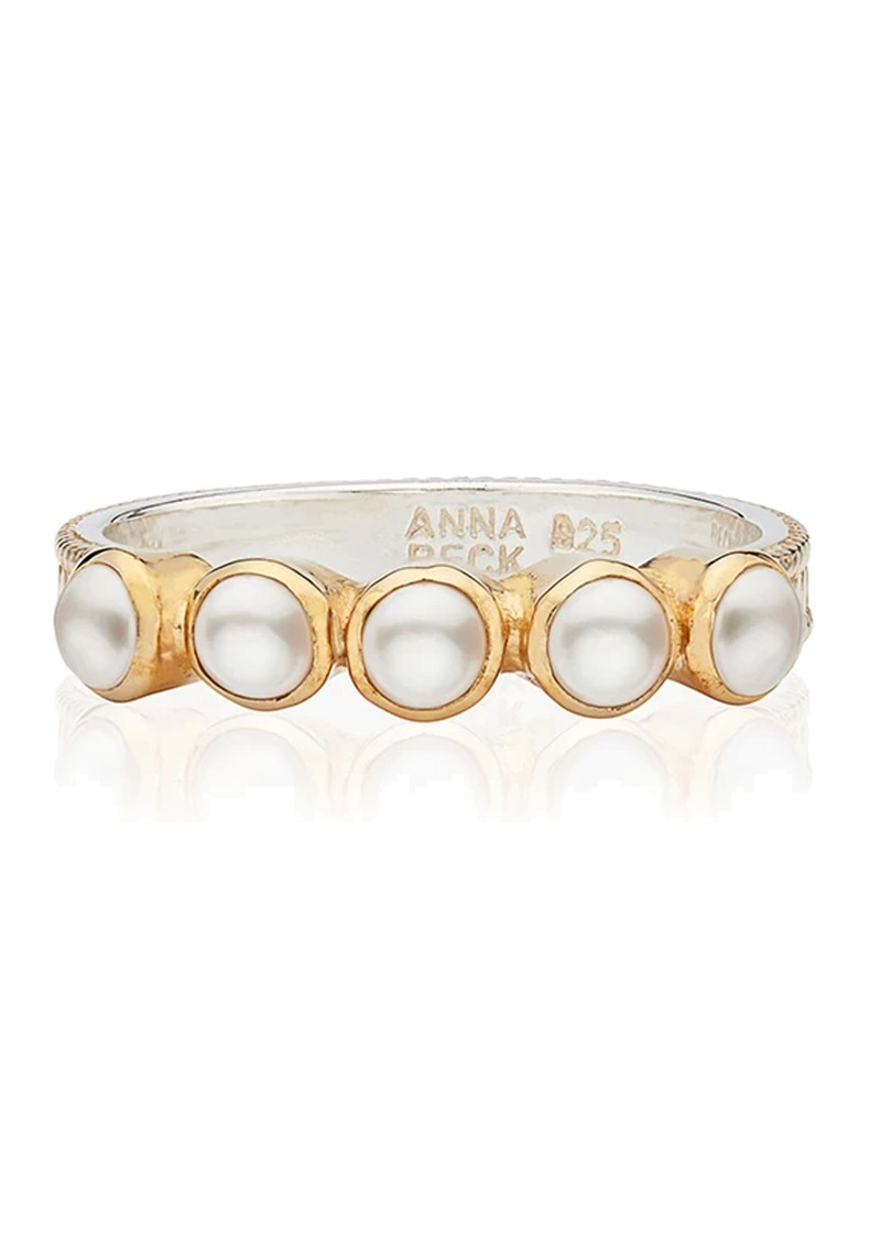 ANNA BECK Reimagined Pearl Multi Stone Ring - Gold  main image
