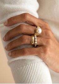 ANNA BECK Reimagined Pearl Multi Stone Ring - Gold