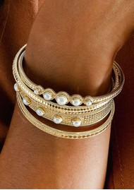 ANNA BECK Reimagined Pearl Multi Stone Cuff - Gold