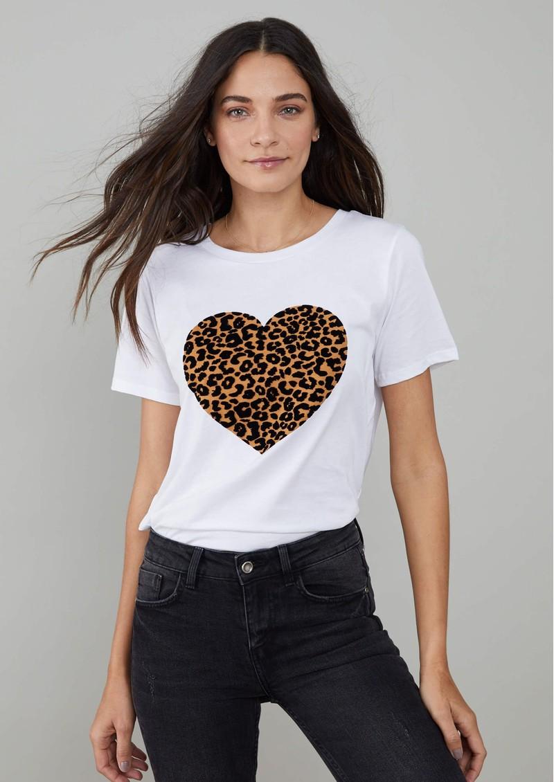 SOUTH PARADE Lola Leo Heart T-Shirt - White main image