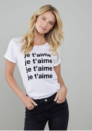 SOUTH PARADE Lola 'Je T'aime' T-Shirt - White